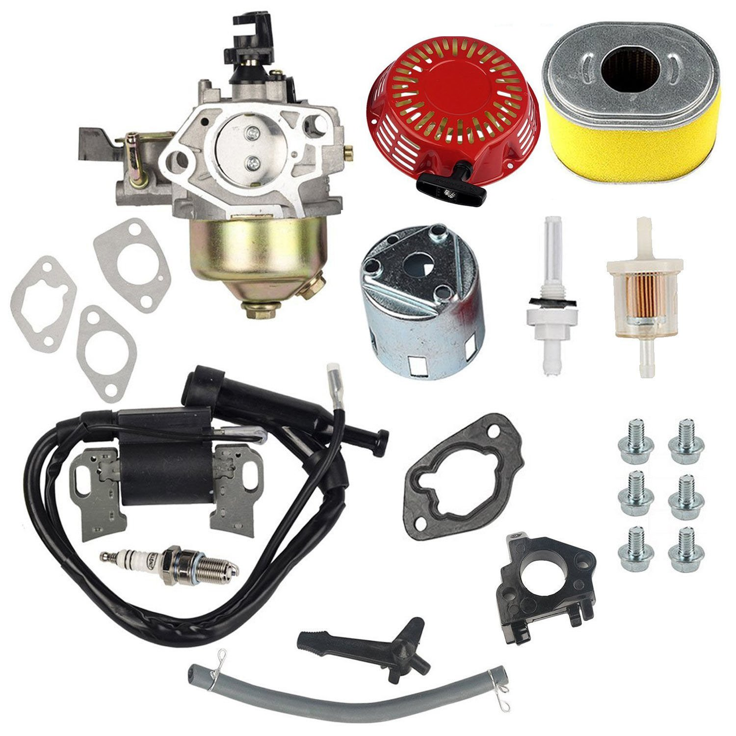 Honda Lawn Mower Fuel Filter Oxoxo Carburetor Ignition Coil Recoil Starter Spark Plug Air Jonit For Gx340 Gx390 11hp 13hp Engine
