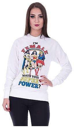 Loomiloo Sweater Wonderwoman Pulli Damen Wonder Woman Pullover