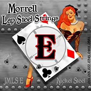 Morrell JMLS-E Premium 6-String Lap Steel Guitar Strings for E-Tuning 14-58 (3-Pack)