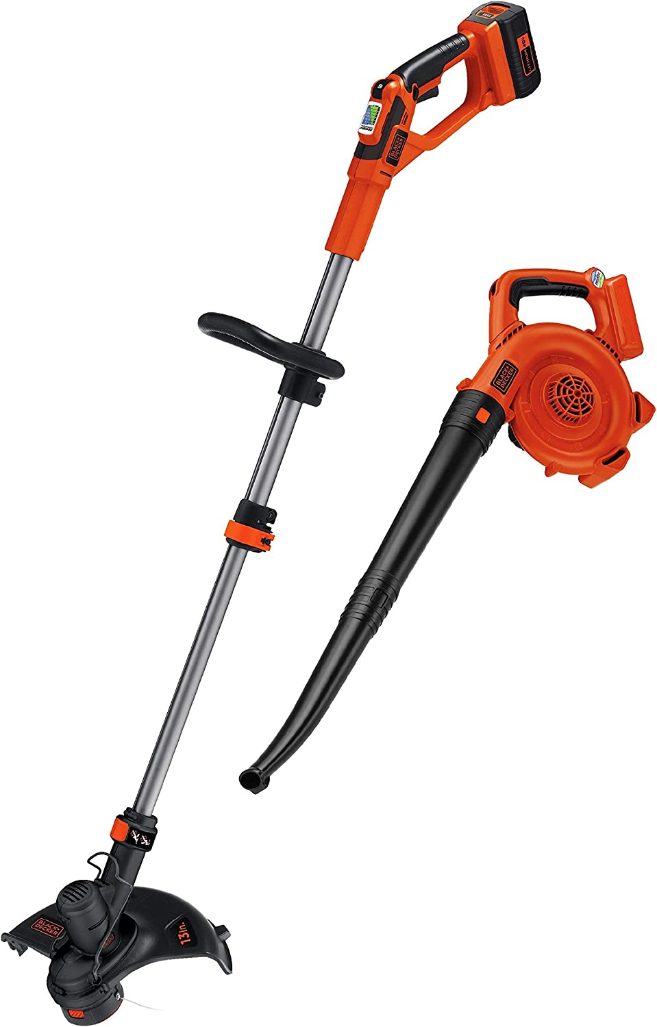 BLACK+DECKER LCC140 40-volt Max String Trimmer and Sweeper Lithium Ion Co (Renewed)