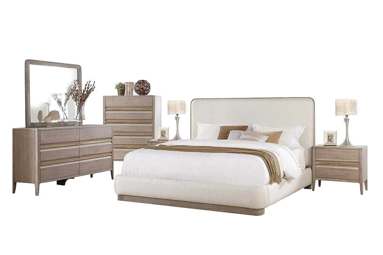 Amazon Com Alicante Mid Century Modern 6pc Bedroom Set Cal King