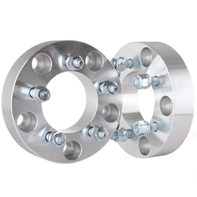 """OCPTY Replacement Parts Compatible with 2pc 5x5.5 to 5x4.5 with 1/2"""" Studs Wheel Spacers 1.5"""" 88mm CB Adapters for Ford E-150 Dodge Ram 1500 Durango Dakota: Automotive"""