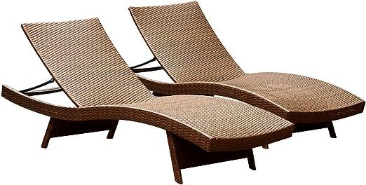 Amazon.com: Abbyson Living Palermo ajustable chaise longue ...