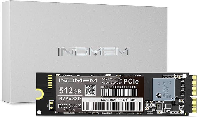 INDMEM 512GB NVMe PCIe Gen3x4 SSD interno para MacBook Pro Retina ...