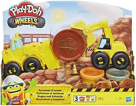 Oferta amazon: Play-Doh Excavadora Y Cargadora (Hasbro E4294EU4)