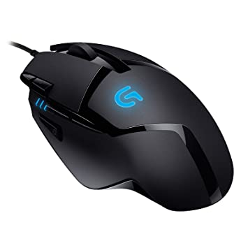 45feef2d35b Logitech G402 Gaming Mouse Hyperion Fury with 8 Programmable Buttons, Black