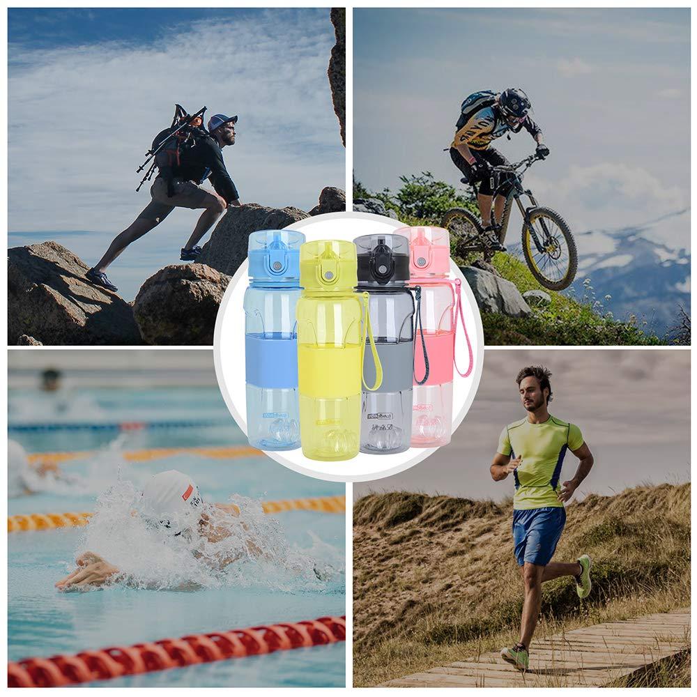 Scuola Bambini Bici Bottiglia da Palestra 500ml Viaggi e Altro Ciclismo MaYee Bottiglia Acqua Sportiva Senza BPA Bottiglia di Acqua Riutilizzabile Ideale da Corsa