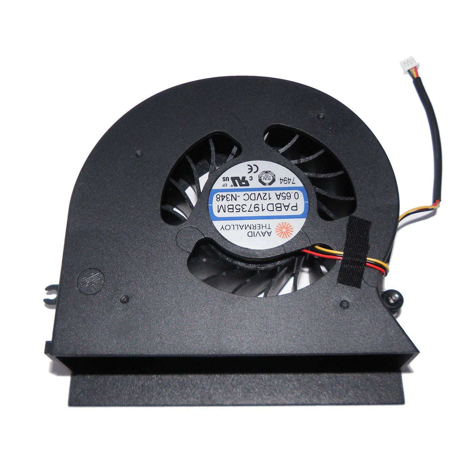 New CPU Cooling Fan for MSI MS-1781 MS-1782 GT72 GT72S GT72VR PABD19735BM N348