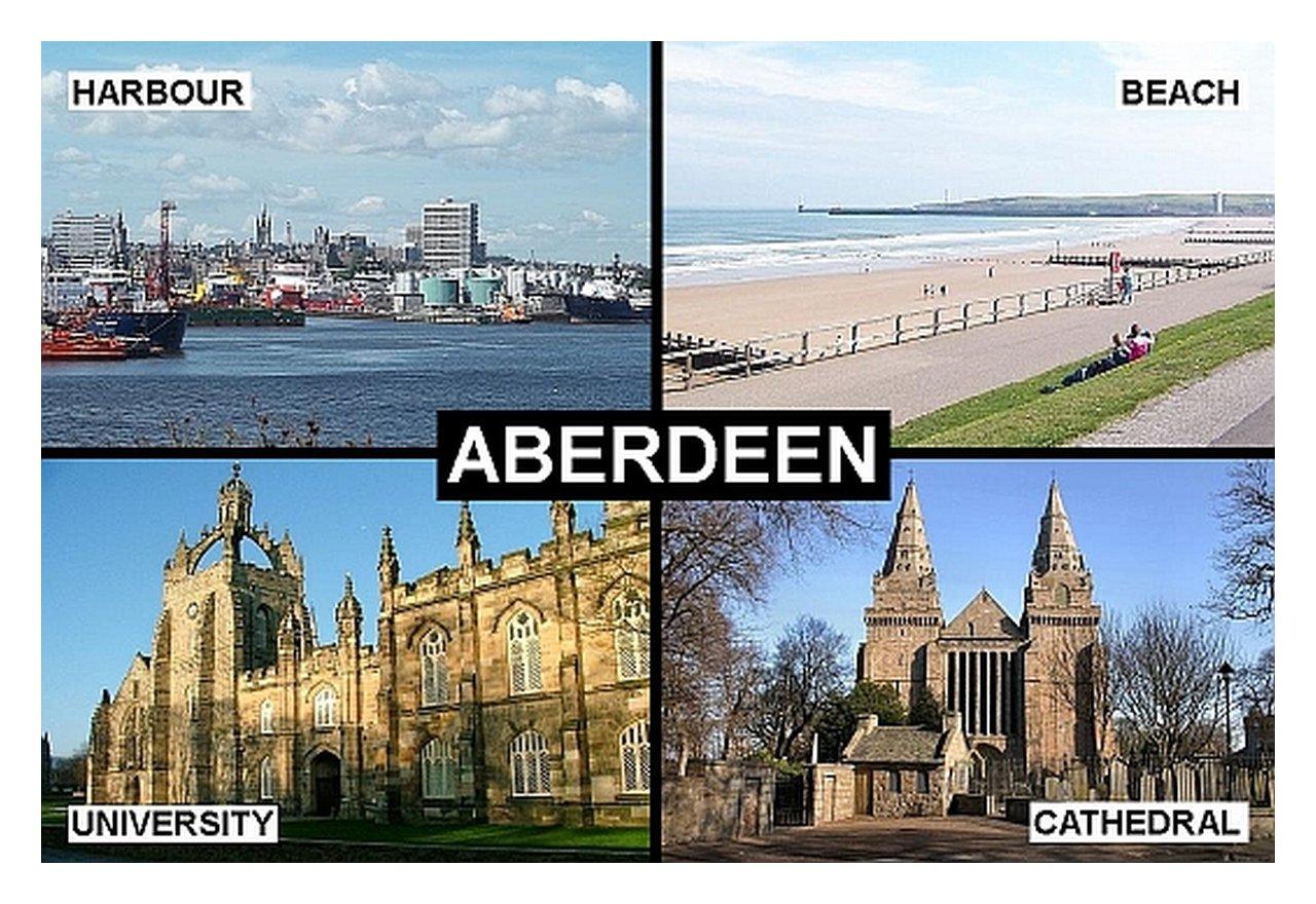 SOUVENIR FRIDGE MAGNET of ABERDEEN SCOTLAND