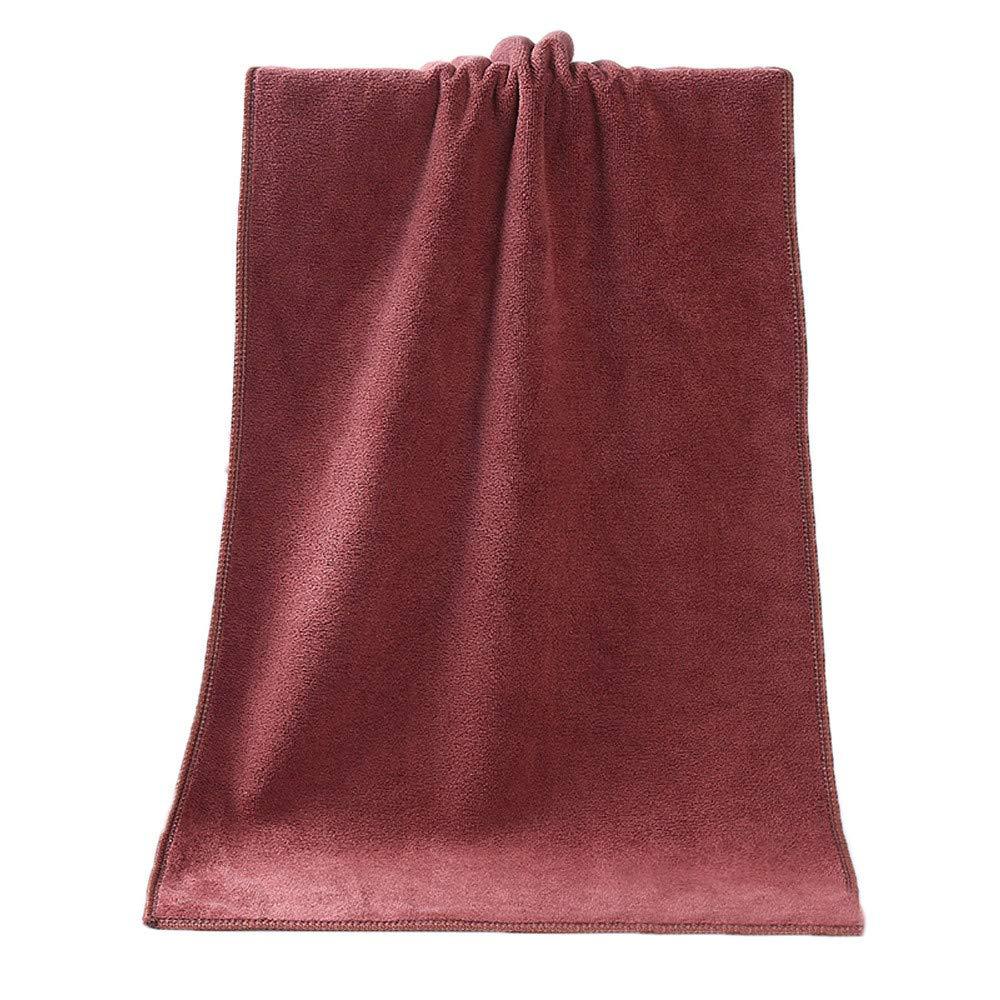 ♚Rendodon♚ Towel, Bath Towel, Microfiber Absorbent Bath Towel, 1PC Bathing Towel Shower Absorbent Superfine Fiber Soft Comfortable Bath Towel (Coffee)