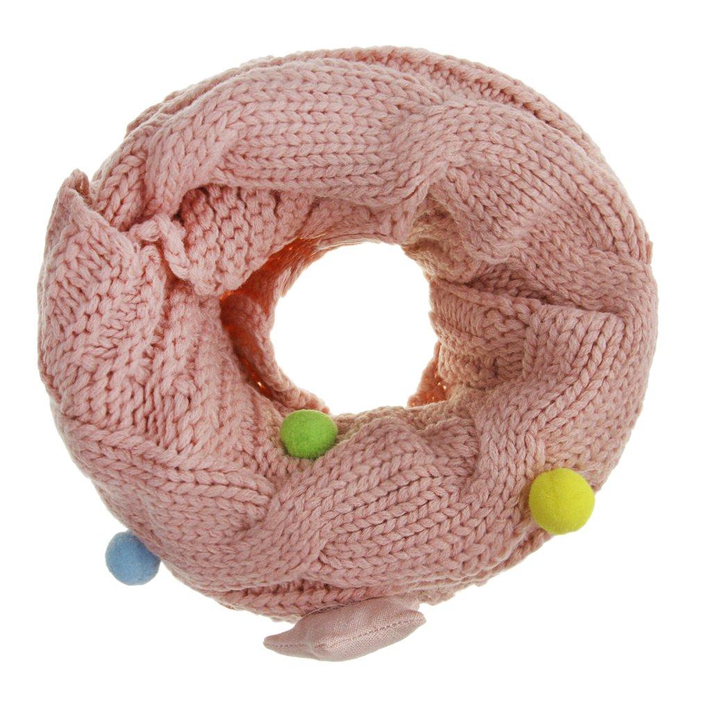 per bambini da 2 a/14/anni caldo scaldacollo tubolare Rose con grande motivo a treccia e stelle Sciarpa a cerchio in maglia tema: volta stellata