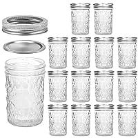 Mason Jars 8 OZ, VERONES 8 OZ Canning Jars Jelly Jars With Regular Lids, Ideal for...