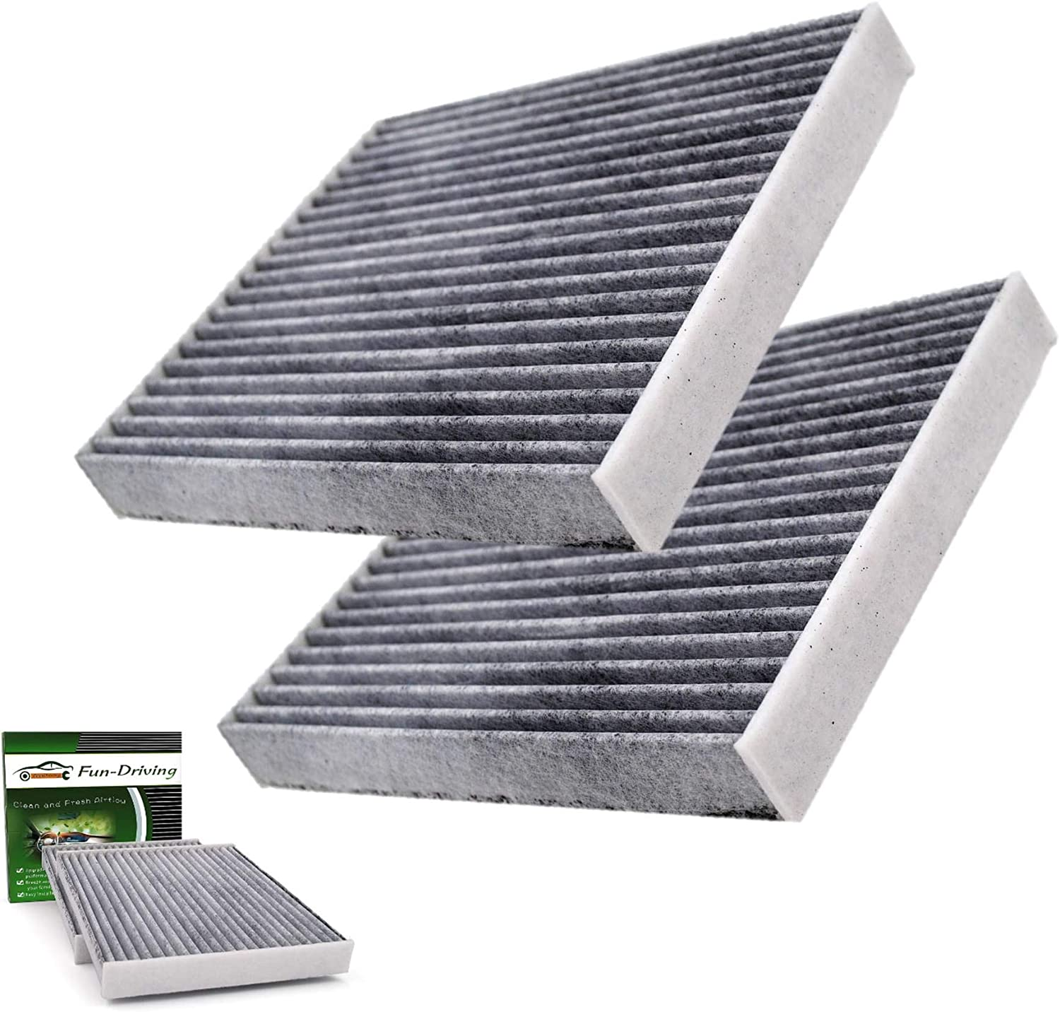 2 Pack FD285 Cabin Air Filter for Toyota//Lexus//Scion//Land Rover//Pontiac,Replace CF10285,CP285 Not Fit 2016 Prius