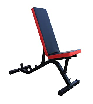 Banco de pesas ajustable en 5 posiciones (asiento ajustable en 2 posiciones): Amazon.es: Deportes y aire libre