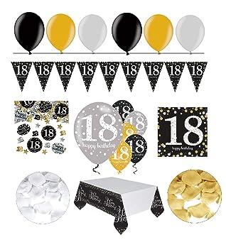 Feste Feiern Geburtstagsdeko Zum 18 Geburtstag 31 Teile All In One