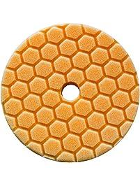 Chemical Guys BUFX112HEX6 Hex-Logic Quantum Medium-Heavy Cutting Pad (Orange, 6.5 Inch)