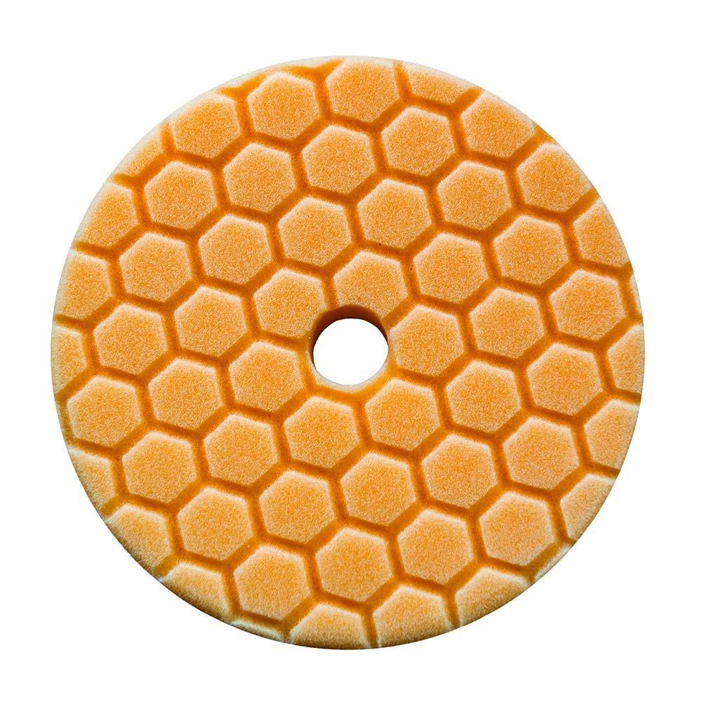 Chemical Guys Hex Logic Quantum Polishing Pad 5.5 Inch (140 mm) Orange Medium Cutting Disc BUFX112HEX6