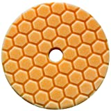 Chemical Guys BUFX112HEX6 Hex-Logic Quantum Medium-Heavy Cutting Pad, Orange (6.5 Inch Pad made for 6 Inch backing plates)