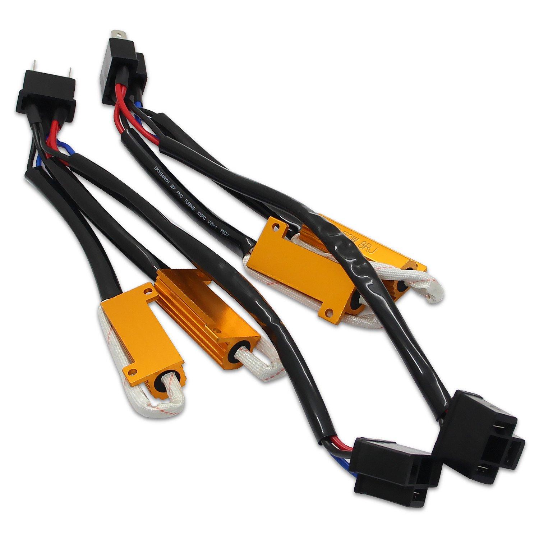 GH4 LED Decoder Anti-Flicker Error Canceller Relay EMC Headlight Kit CANBUS Resistor Adapter RCP