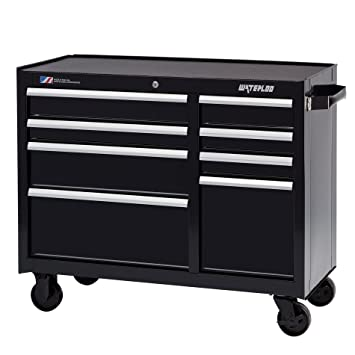 Waterloo W Drawer Rolling Tool Cabinet With Ball Bearing Slides