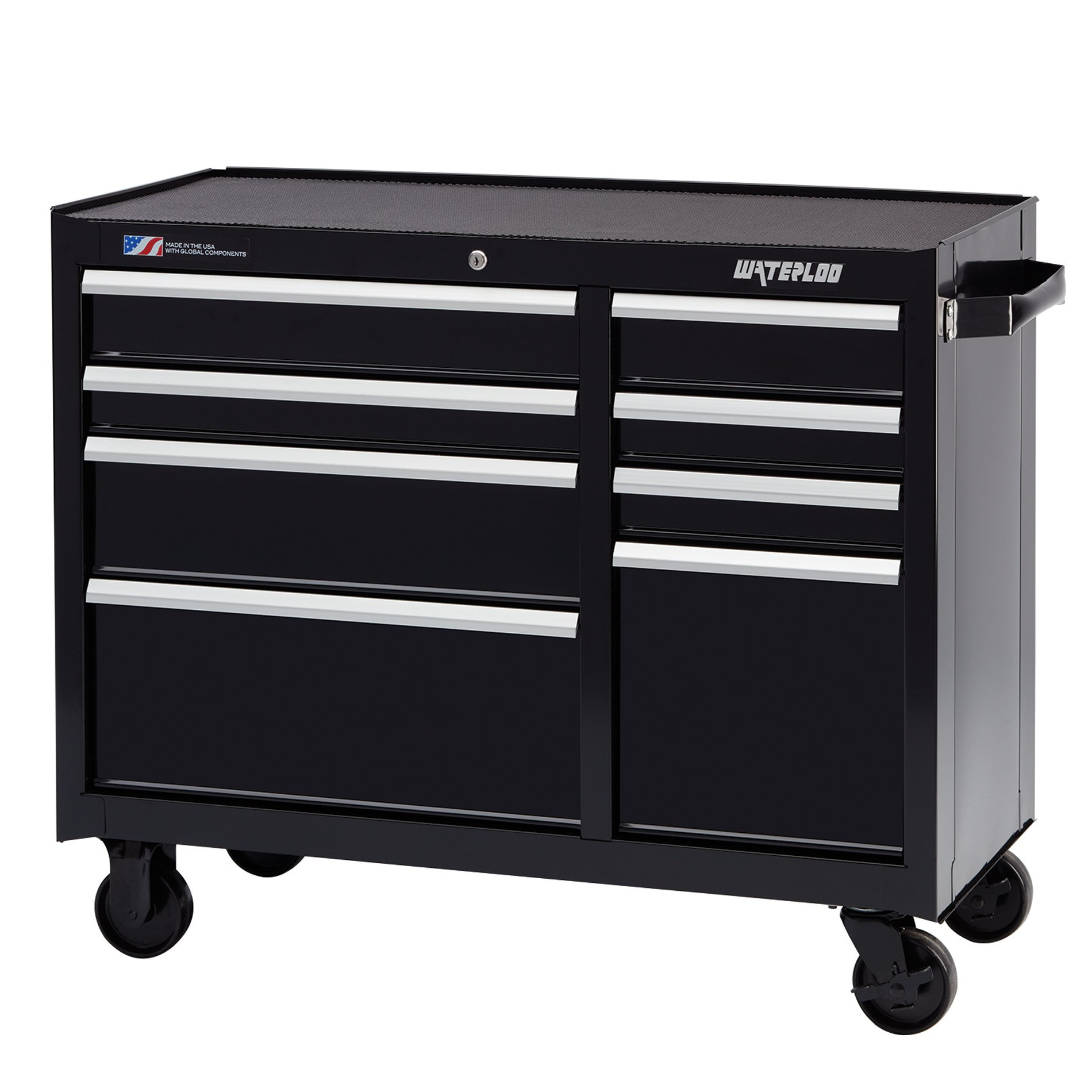 "Waterloo W300 Series 8-Drawer Rolling Tool Cabinet with Ball-Bearing Slides, 41"" W"