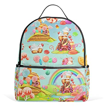Amazon.com: My Daily Sweet Candy Land Rainbow Mochila para ...