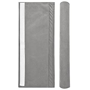 Vezfinel Refrigerator Door Handle Covers,Fridge Oven Dishwasher Protectoer,Catch Fingerprints&Smudges Kitchen Appliances Handmade Decoration (Grey)