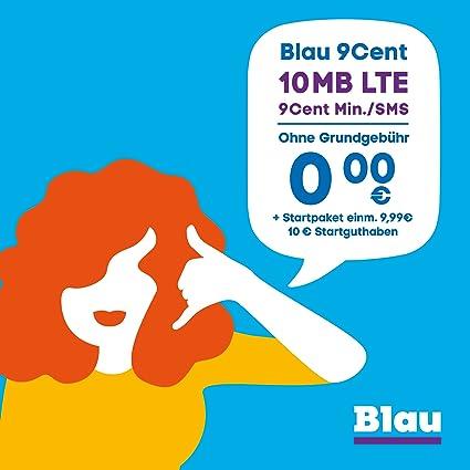 Blau Sim Karte Funktioniert Nicht.Blau 9 Cent Ohne Vertragslaufzeit 10 Mb Amazon De Elektronik