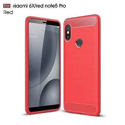 JMGoodstore Funda Xiaomi Redmi Note 5 Pro,Regalo:Cristal ...