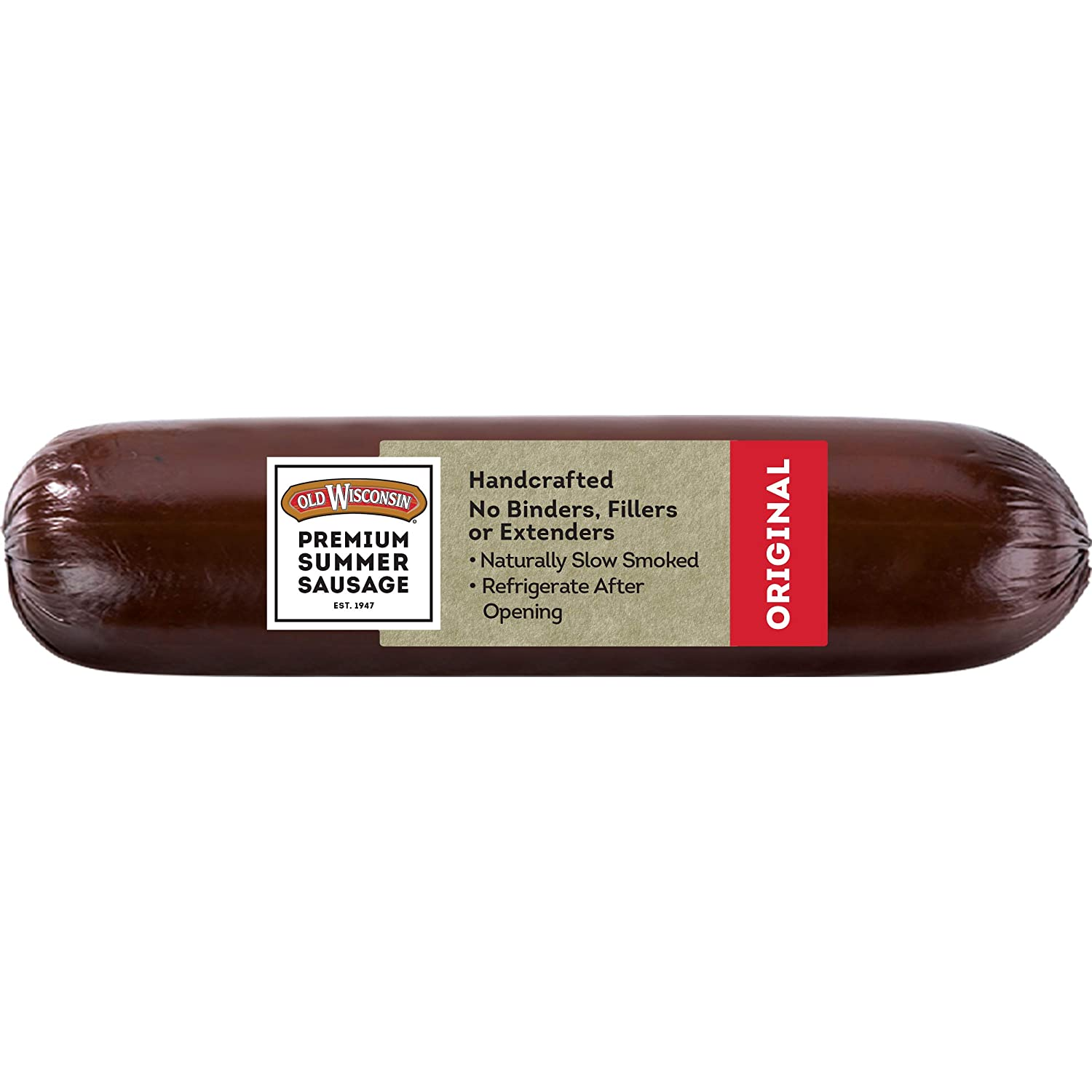 Amazon Com Old Wisconsin Premium Summer Sausage 100 Natural Meat Charcuterie Ready To Eat High Protein Low Carb Keto Gluten Free Original Flavor 16 Ounce Jerky And Dried Meats Grocery Gourmet Food