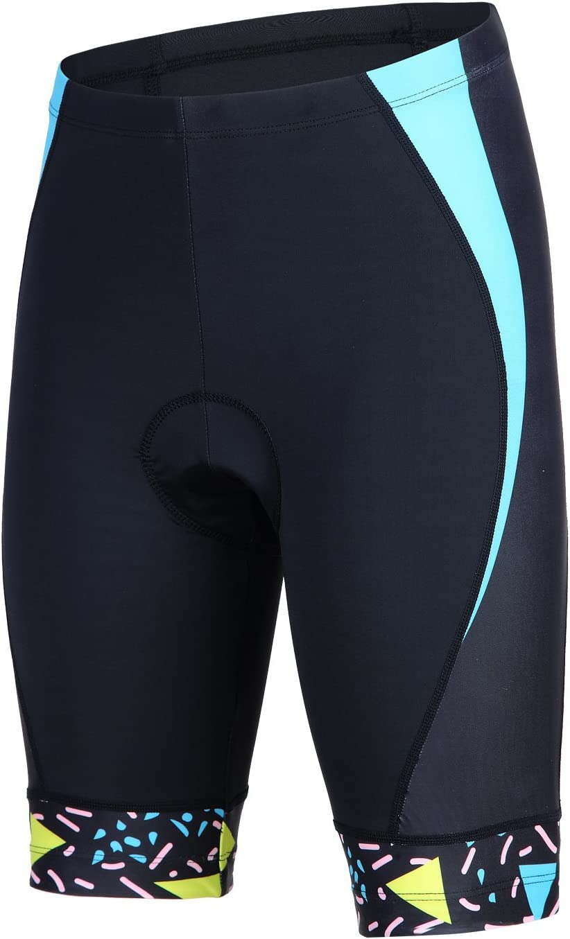 BEROY Womens Bike Shorts with 3D Gel Padded Cycling Womens Shorts S Black