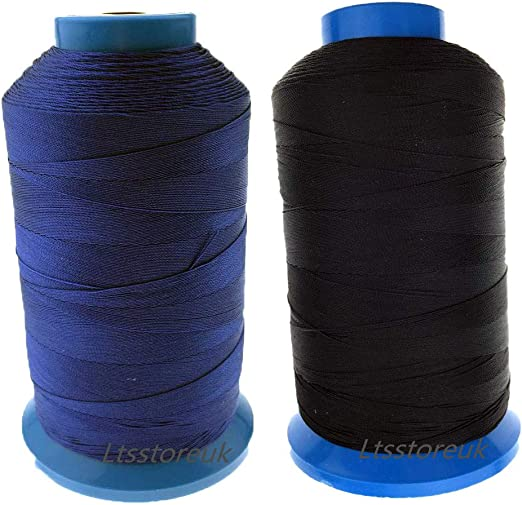 Ltsstoreuk Hilo de coser de nailon de 1500 yardas, tamaño T70#69 ...