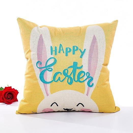 Sunnyuk - Funda de cojín de Pascua, 45 x 45 cm, diseño de ...