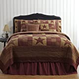 VHC Brands Ninepatch Star Twin Quilt 68x86""