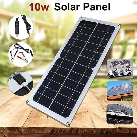 iBaste_Panel Solar 10W 18V 12V Cargador Solar Portátil con ...