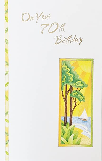 On Your 70th Birthday Greeting Card
