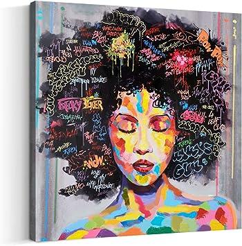 "Pop Art African Purple Hair Black Woman 24x16/"" Kitchen Bathroom Bath Door Mat"
