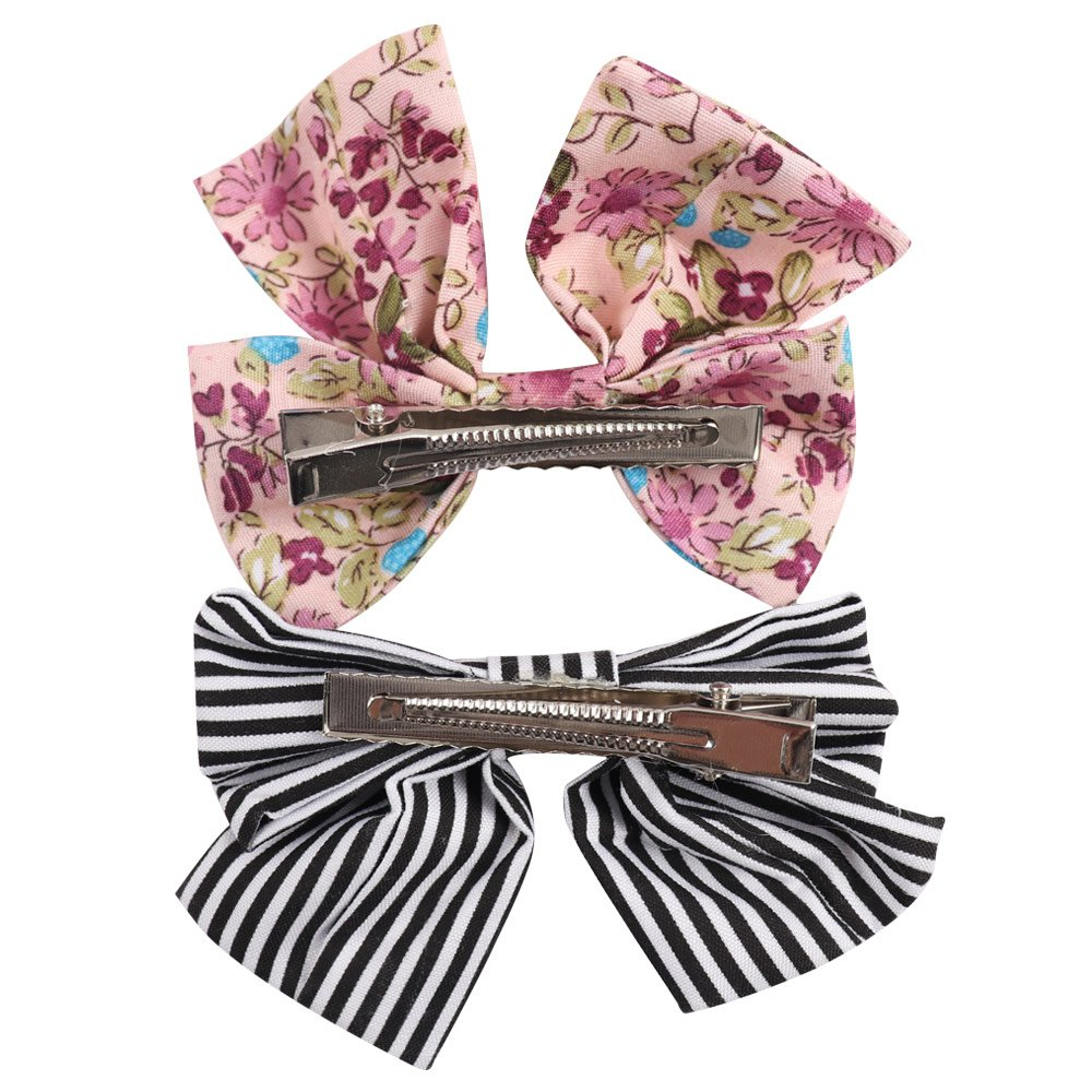 Oaoleer 10pcs 3.5'' Fabric Ribbon Hair Bows with Clips for Baby Toddler Girls Teens by Oaoleer (Image #4)