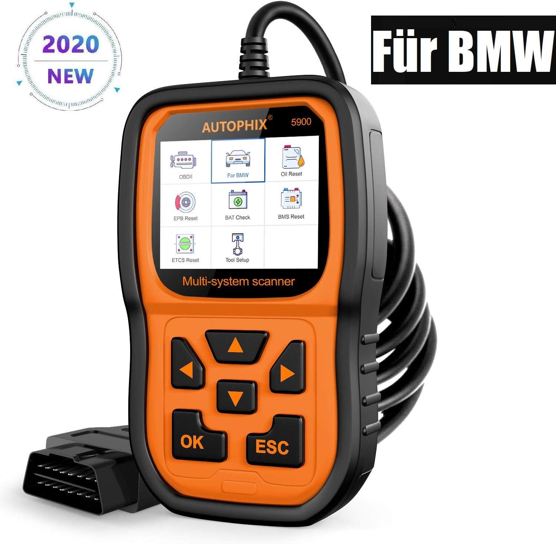 AUTOPHIX OBD2 Diagnoseger/ät f/ür BMW alle Systeme zur Diagnose mit CBS Oil EPB BMS TPS und Service zur/ücksetzen