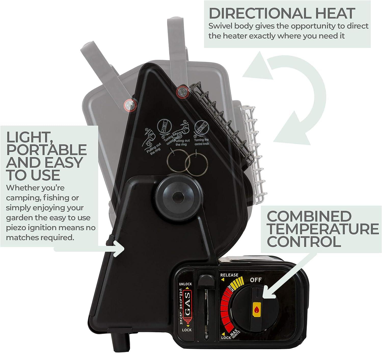 Highlander GAS009 - Calentadores de pies, Color Negro
