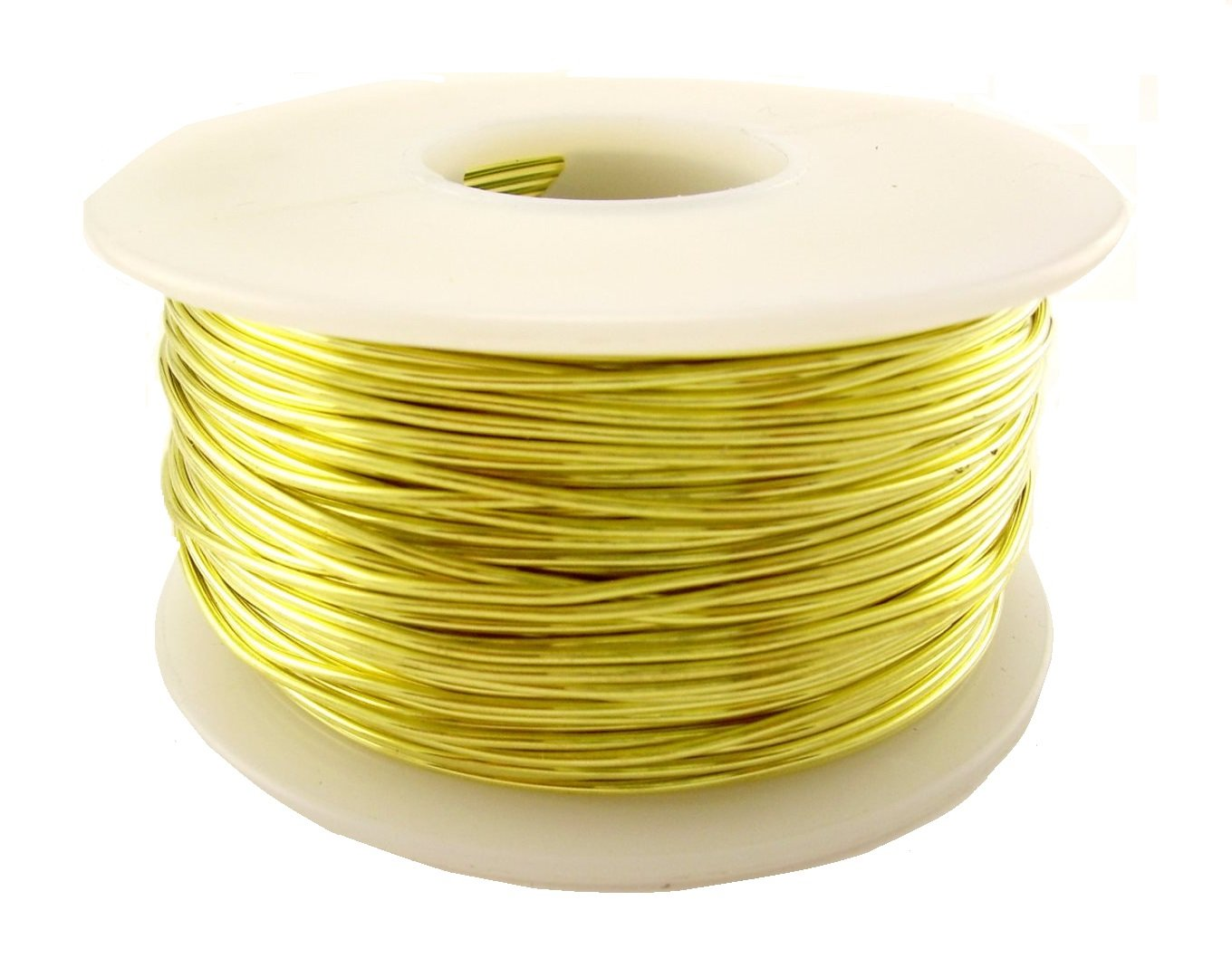 26 Ga Brass Round Wire 1280 Ft Spool (Dead Soft) Pack Of 1- New by STL Group INC