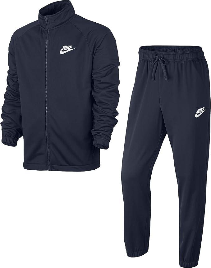 Nike M NSW CE PK Basic Chándal, Hombre, Obsidian/Obsidian/White ...