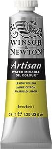 Winsor & Newton Artisan Water Mixable Oil Colour, 37ml Tube, Lemon Yellow