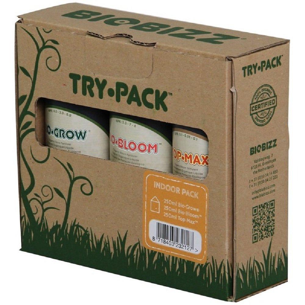 BioBizz Try Pack Indoor Organic Bio Grow Bio Bloom Top Max Plant Fertilizers Starter Kit