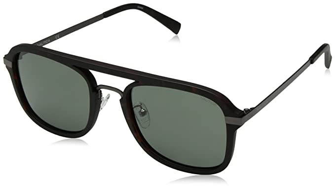 4390c8d3a4 Image Unavailable. Image not available for. Color  Nautica Men s N4628sp Polarized  Aviator Sunglasses MATTE DARK TORTOISE 56 mm