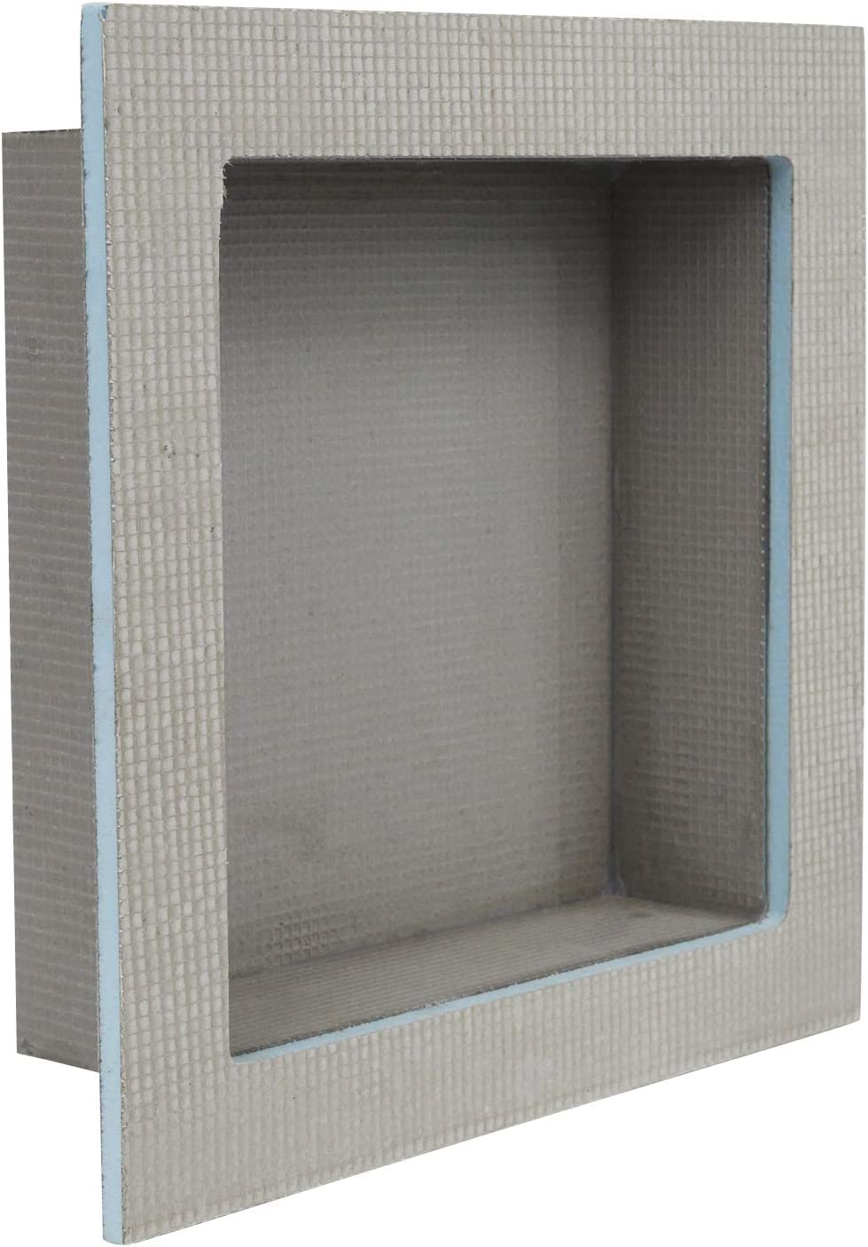 "Houseables Shower Niche, Insert Storage Shelf, 12x12 Inch, Installation Size: 13""x13"", Grey, XPS Foam, Leak-Proof, Waterproof, Recessed Preformed Caddy, Tile Prefab Shelves for Bathroom, Prefabricated"