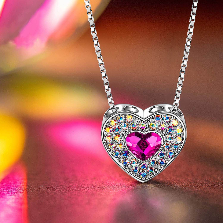 Cristaux de Swarovski Cadeau Femme J./RENE/É Collier Femme Cadeau Emballage de Bo/îte Cadeau E/él/égant Bijoux Femme