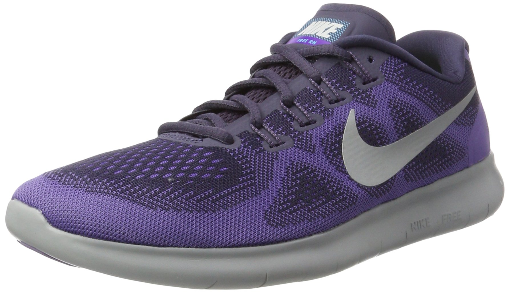 Nike Womens Free RN 2017 Running Shoe, Dark Raisin/Pure Platinum-Purple Earth (9)