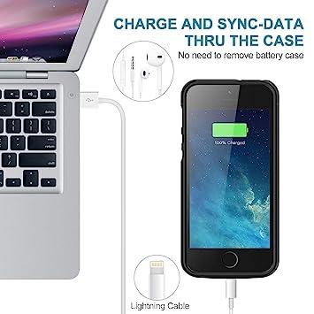Amazon.com: YISHDA - Funda con batería para iPhone 5/5S/SE ...