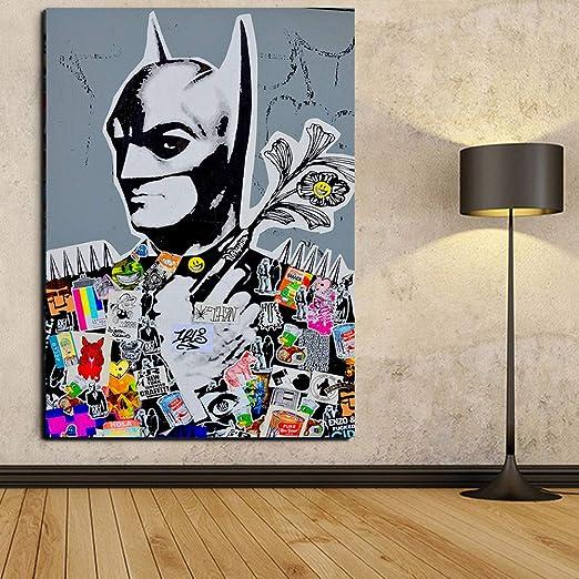 Cartoon Batman Kid Canvas Prints Superhero Boys Room Home Decor Wall Art Poster